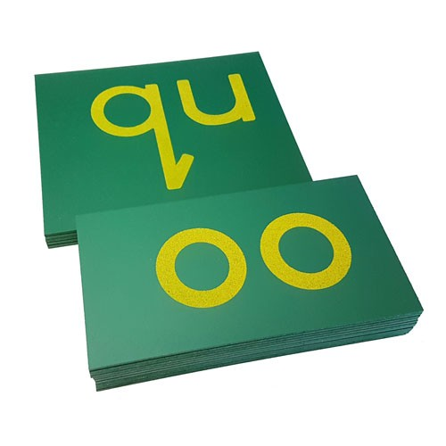 Montessori Double Sandpaper Letters