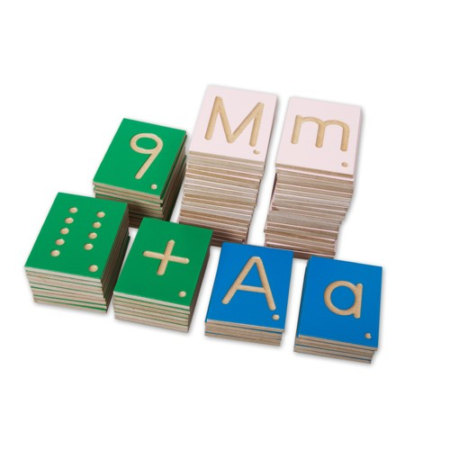 Montessori Number and Letter Tiles