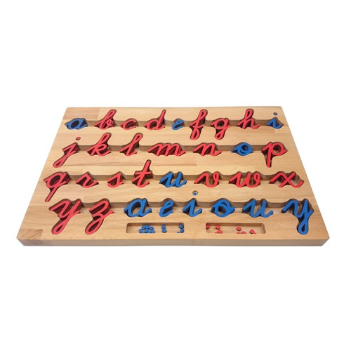Montessori Cursive Movable Alphabet and Box