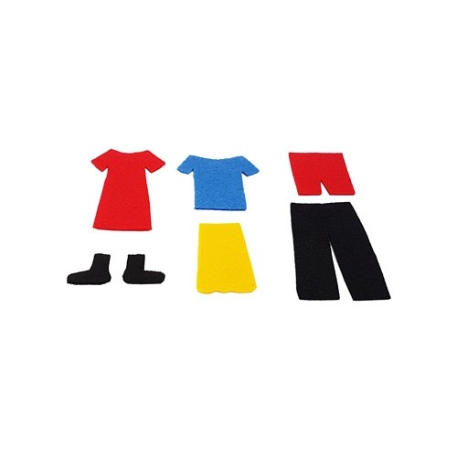 Mini Felt Clothes Shapes