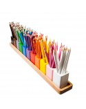 Montessori Pencil Holders On A Wooden Stand