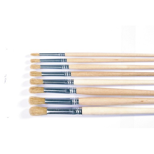 Short handled lyons round headed paint brushes