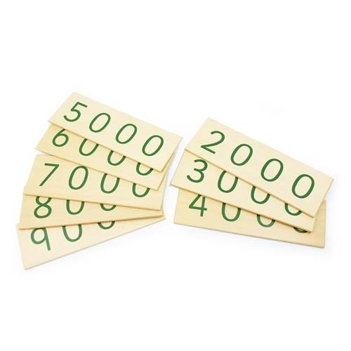 Montessori Wooden Small Place Value Cards 2000-9000