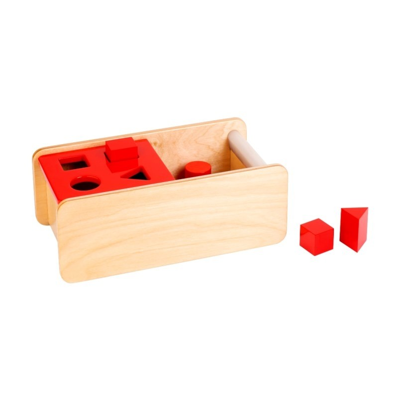 Nienhuis Montessori Imbucare Box With Flip Lid - 4 Shapes