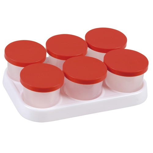 Tray with 6 x 125 ml pots