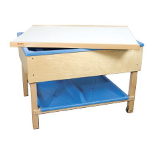 Covering lid for sand and water table