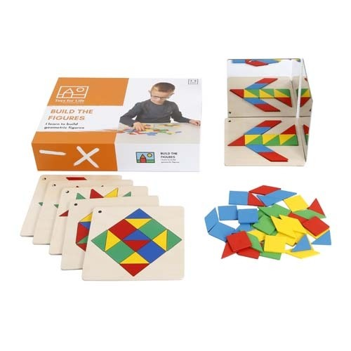 Shapes and Mirror Game: Build the figures