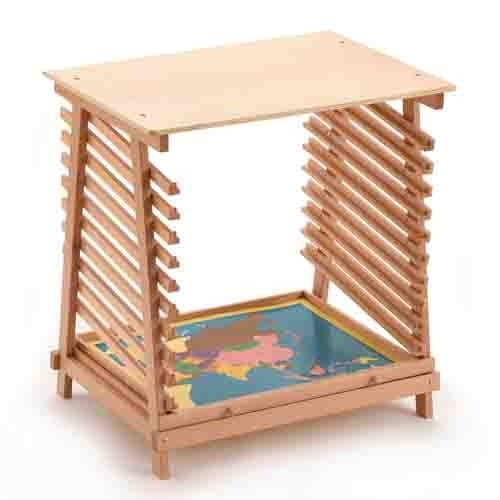 Montessori Large Puzzle Map Stand
