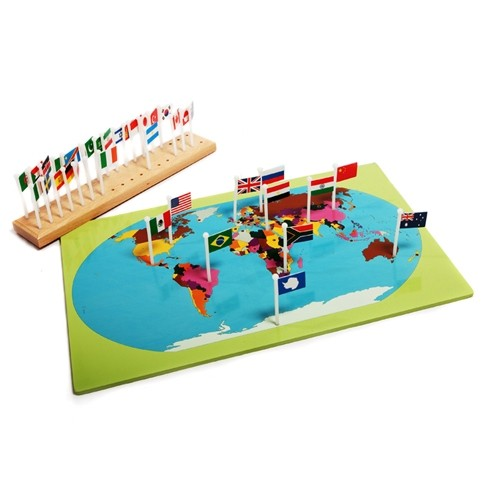 Discount Montessori World Flags Map