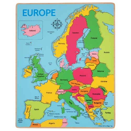Discount Montessori Europe Puzzle Map