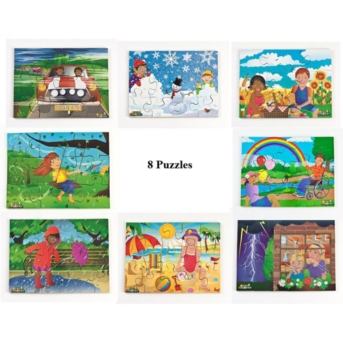 Set of 8 Weather Jigsaw Puzzles