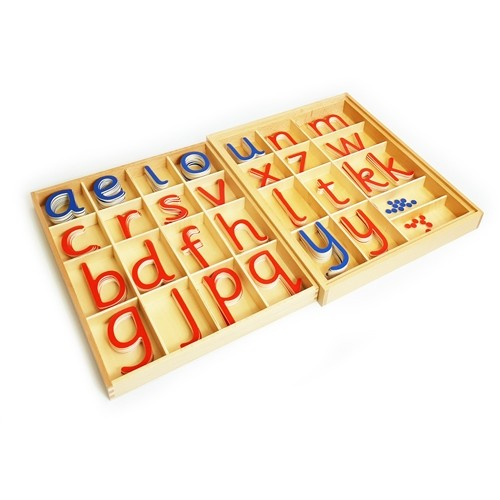 Montessori Large Movable Alphabet In A Split Level Box