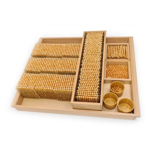 Montessori Full Golden Bead Material