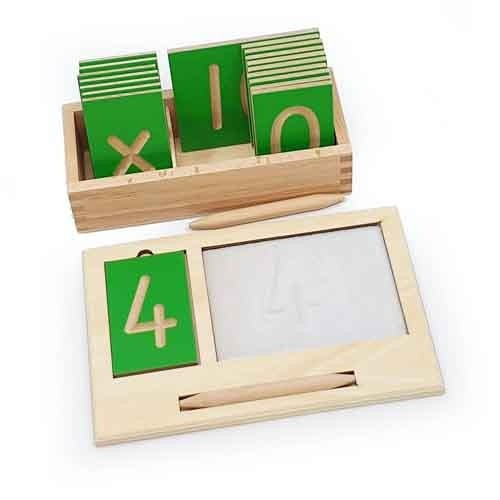 Montessori Mini Grooved Number Tiles with Stylus