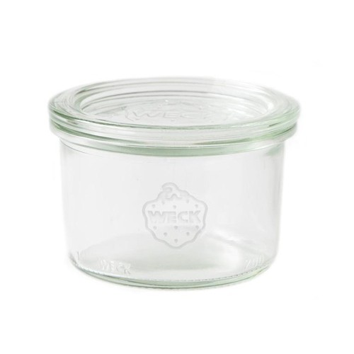 Montessori SET OF TWELVE Small 200ml Weck Jars.