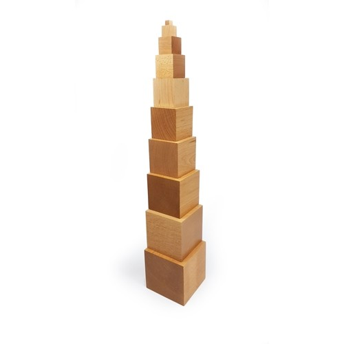 Montessori Natural Tower of Cubes