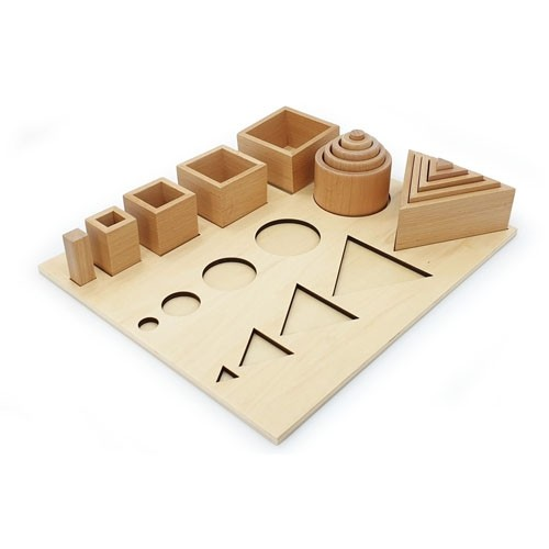 Wooden Shapes Sequencing Board