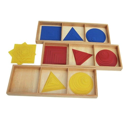Montessori Circles, Squares and Triangles