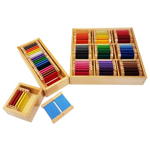 Montessori Silk Colour Tablets Boxes 1, 2 and 3