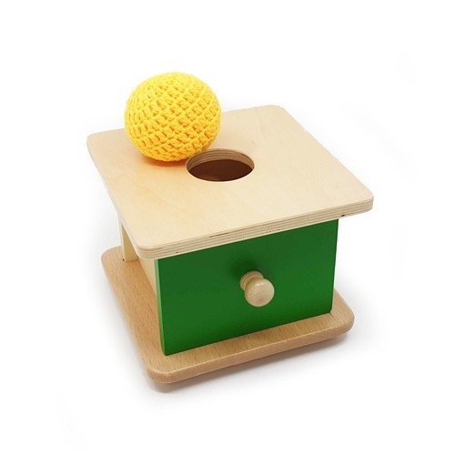 Toddler Imbucare Box with Knitted Ball