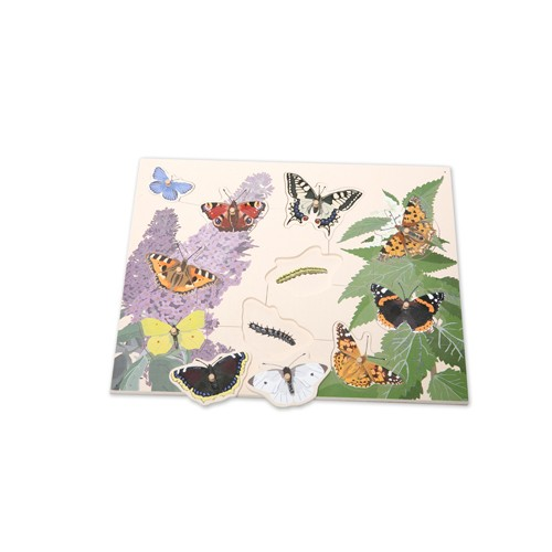 Montessori Native British Butterflies Board Puzzle