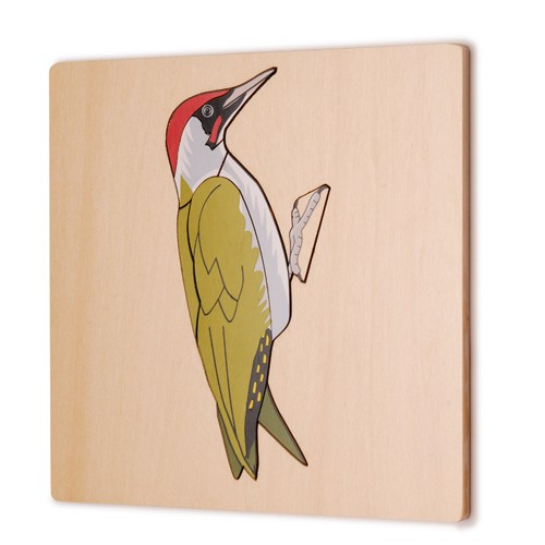Montessori Woodpecker Puzzle