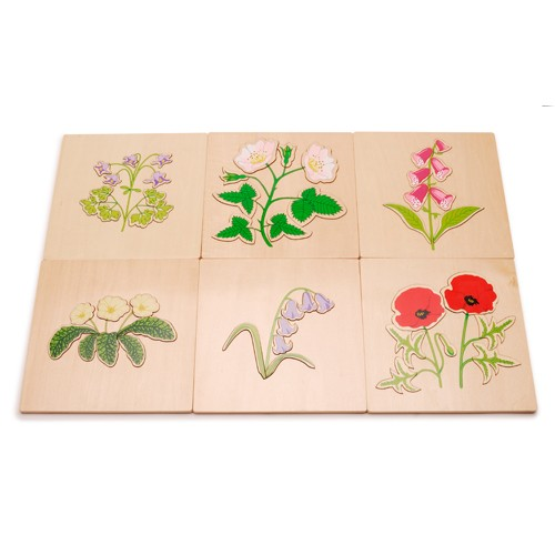 Montessori British Wildflowers Puzzles