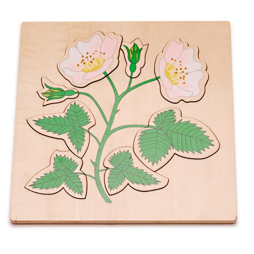 Montessori Dog Rose Puzzle