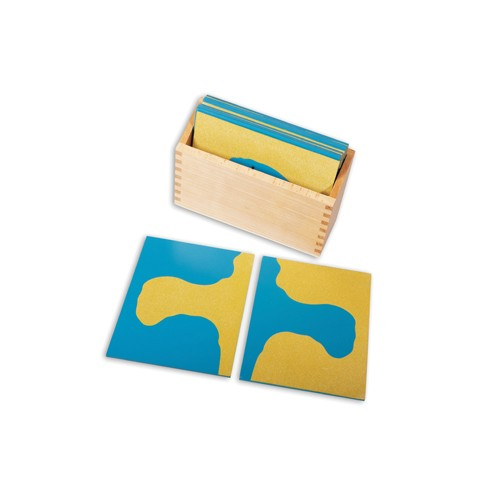 Montessori Sandpaper Land and Water Forms Boards