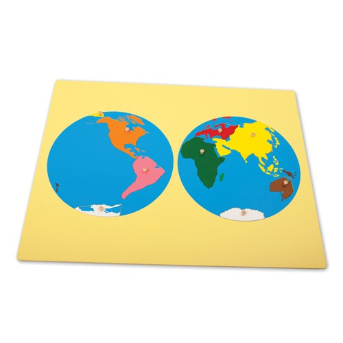 Montessori World Continents Puzzle Map
