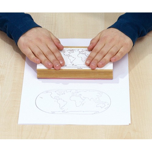 Montessori World Continents Map Stamp