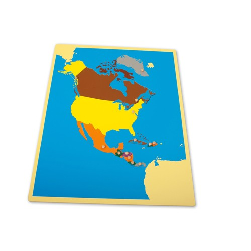 Montessori North America Puzzle Map