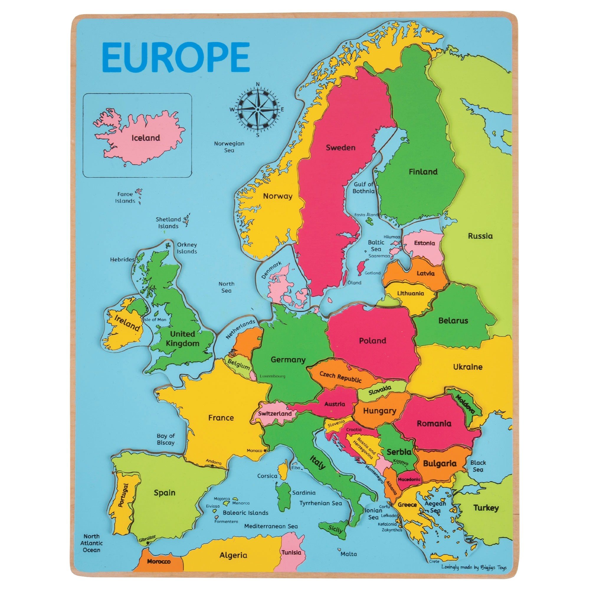 Discount Europe Map Labelled Inset Puzzle