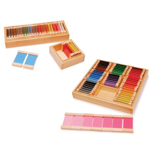 Montessori Wooden Colour Tablets Boxes 1,2 and 3