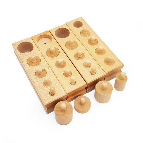 Discount Montessori Mini Knobbed Cylinders