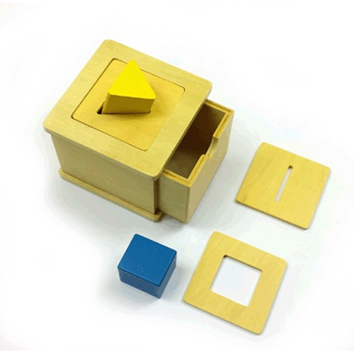 Discount Montessori Imbucare Box with triangular and square prisms