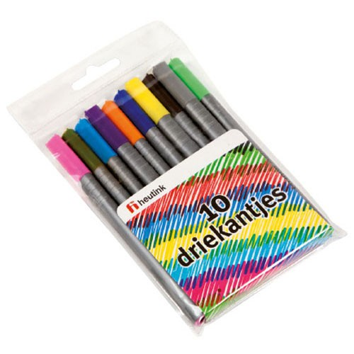 Felt markers triangular