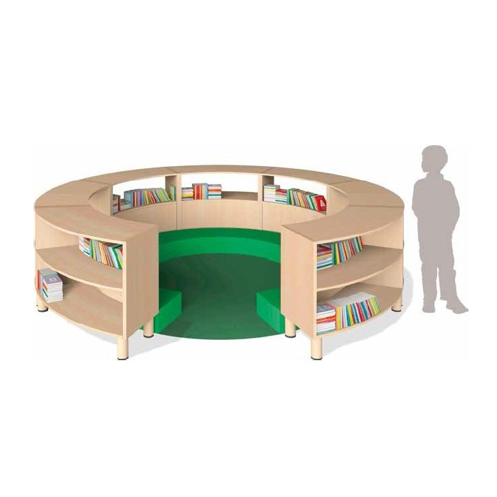 Curved Learning Area Furniture Set
