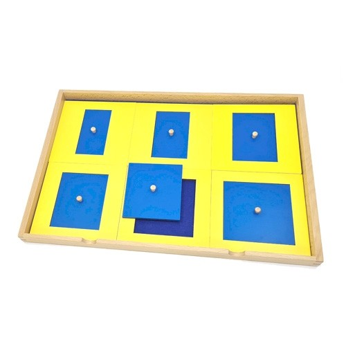 Geometric Presentation Tray with 6 Rectangles