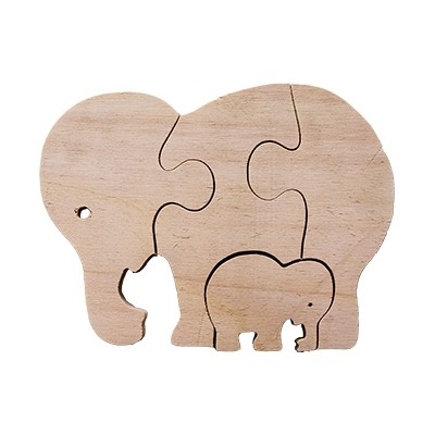 Elephant Mother and Baby Puzzle