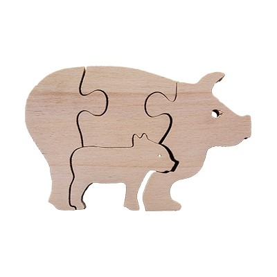 Pig Mother and Baby Puzzle