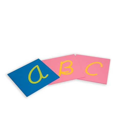 Montessori Sandpaper Capital Letters Cursive Upper Case