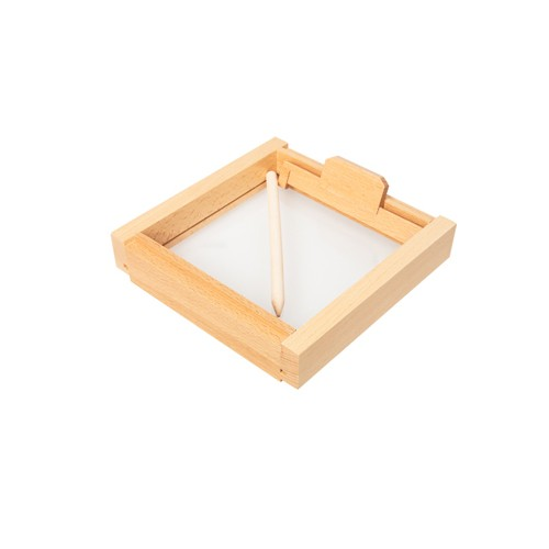 Montessori Small Sand Tray with Clear Base and Smoothing Tool