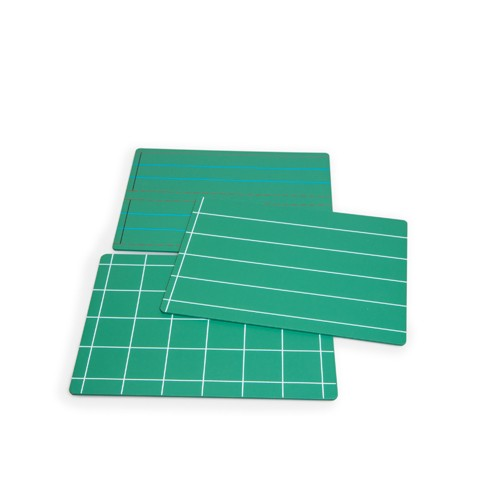 Montessori Green Boards with Lines and Squares