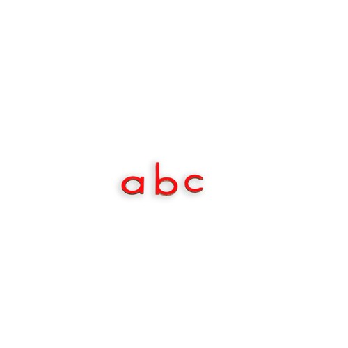 Montessori Small Movable Alphabet Letters red