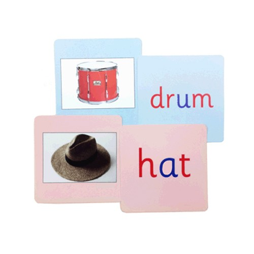 Montessori Pink and Blue Phonics Reading Cards