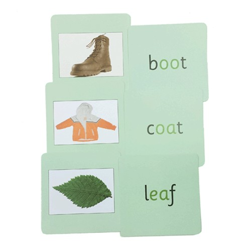 Montessori Green Phonics Reading Cards