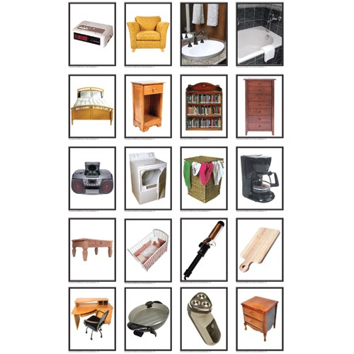 Montessori Furniture and Appliances Photo Learning Cards