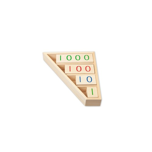 Montessori Wooden Small Place Value Cards in Configured Box
