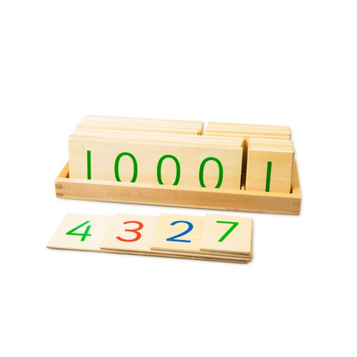 Montessori Wooden Large Place Value Cards 1-9999